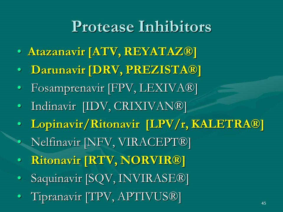 Protease Inhibitors Atazanavir [ATV, REYATAZ®]